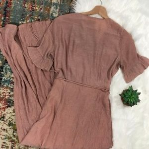 ASOS Dresses - ASOS • Blush Maxi Wrap Dress